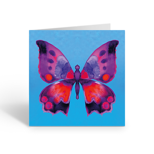 Red/mauve Butterfly - card