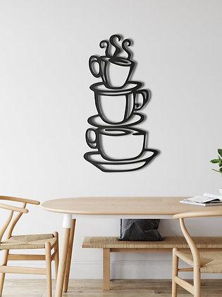 Панно металлическое Кофейные кружки 900х540мм