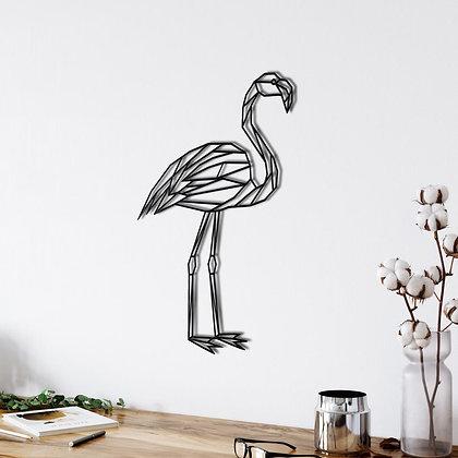 Панно металлическое Фламинго