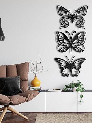 Панно металлическое Бабочки 3шт