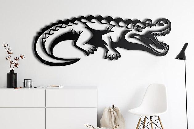 Панно металлическое Крокодил