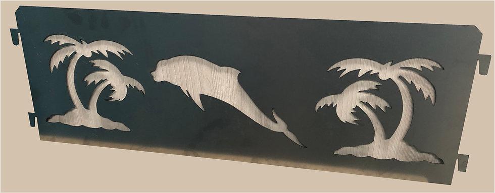 """Панель """"Дельфин с Пальмами"""" для забора полисадника"""
