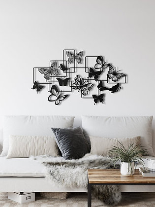 Панно металлическое Бабочки 1000х580мм