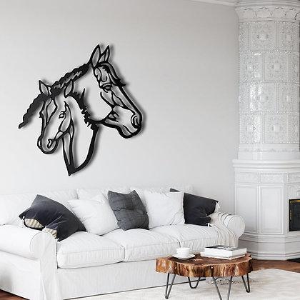 Панно металлическое 2 лошади