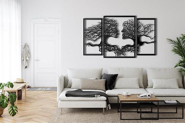 Панно металлическое Дерево влюбленные