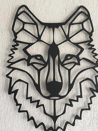 Панно металлическое Волк