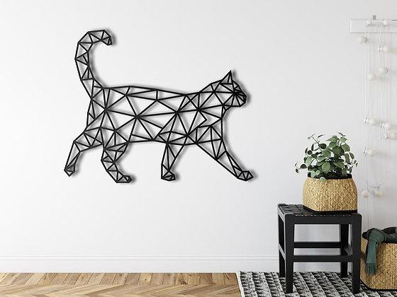 Панно металлическое Кот