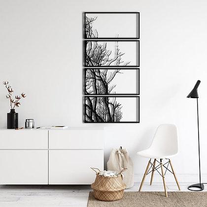 Панно металлическое Дерево 1200х600мм