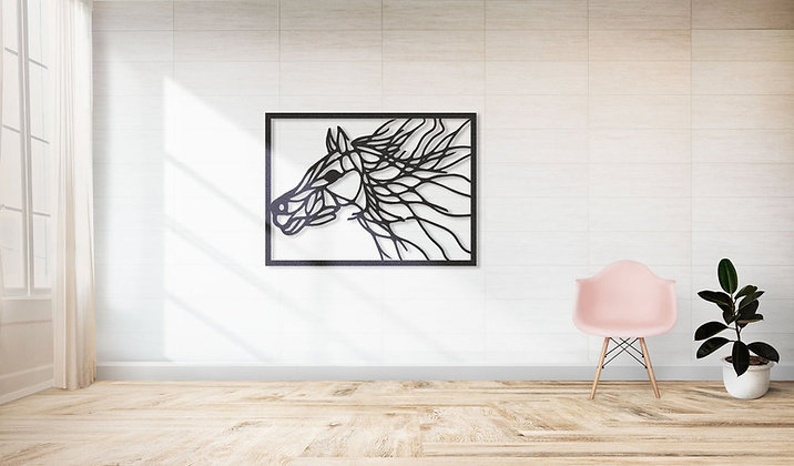 Панно металлическое Лошадь