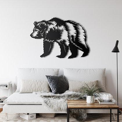 Панно металлическое Медведь