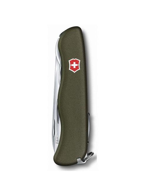 Нож Victorinox Forester, 111 мм, 12 функций (зеленый)