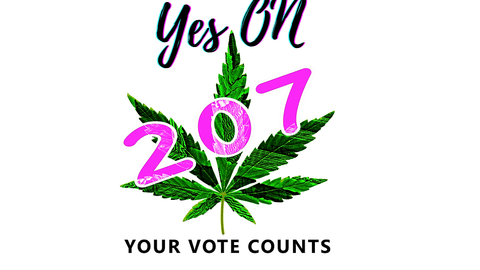Yes Weed, yes 207 AZ vote - T-shirt