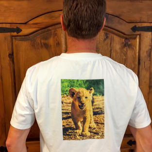Custom T-shirt sample (back)