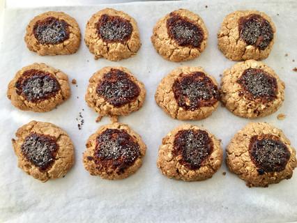 My Oat Cookies with Raspberry Chia Jam