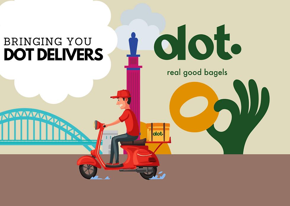 Dot Delivers, Bagel Delivery, Food Delivery, Newcastle, Heaton, Chillingham Road, Bagel, Bagels