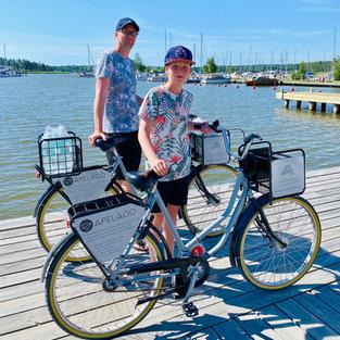 Hyr cykel i hamnen