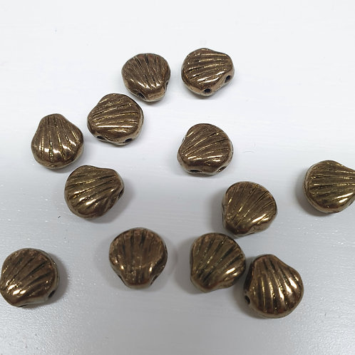 חרוז Shell Douo ברונזהאפור