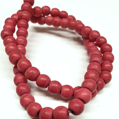 """הולייט אדום- אבן טבעית 6 מ""""מ"""