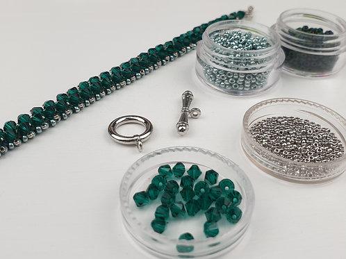 צמיד טניס סברובסקי צבע ירוק טורקיז