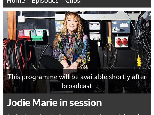 Jodie Marie in session with Janice Long, BBC Radio Wales.