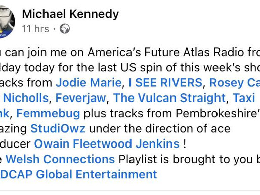 Jodie Marie gets played on America's Future Atlas Radio!
