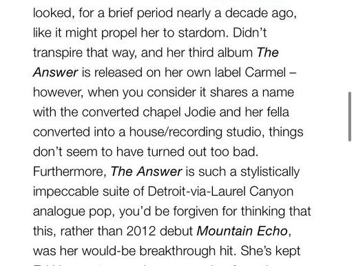 Buzz Magazine review Jodie Marie's new album!
