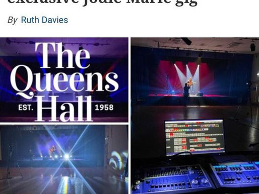 Western Telegraph promote LiveStream gigs in Queens Hall coming up - including Jodie Marie!