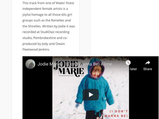 Jodie Marie - '(I Don't Wanna Be Alone) This Christmas' added to New Sound Wales List!