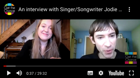 Jodie Marie video Interview with Gareth Williams of GetTheChance!