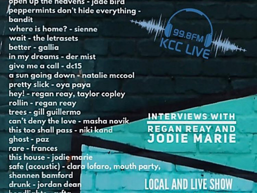 Jodie Marie Interview on KCC Live Radio from 6pm TONIGHT1