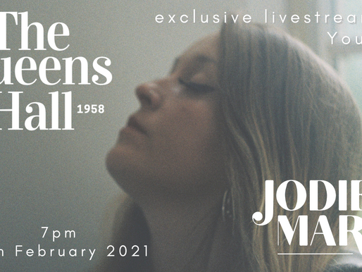 Jodie Marie Live Stream at The Queen's Hall, Narberth 19th February 2021!