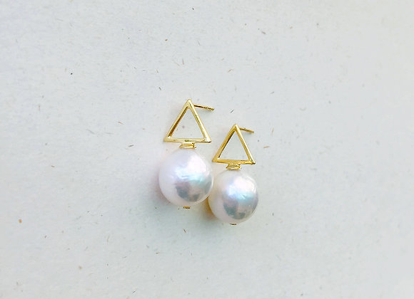Cute Triangle - 13mm Baroque freshwater pearls
