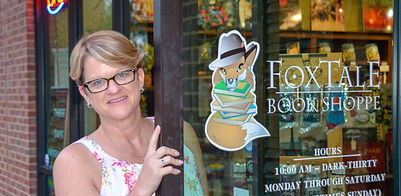 April C. Royer author signing at FoxTale book store