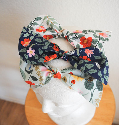 Ladies Floral Cotton Headband with Bow