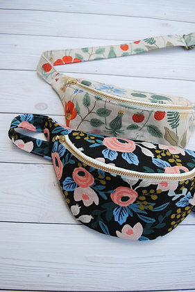 Pre-Order Fanny Pack made with Rifle Paper Co Floral Canvas Fabric