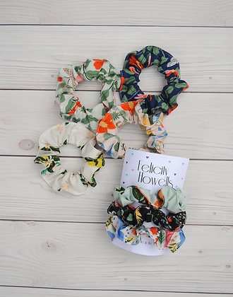 Rifle Paper Co Rayon Scrunchie 3 Pack. You pick your colors! Choose from 7 diffe