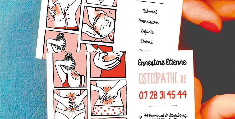 CARTE DE VISITE OSTEOPATHE - BD