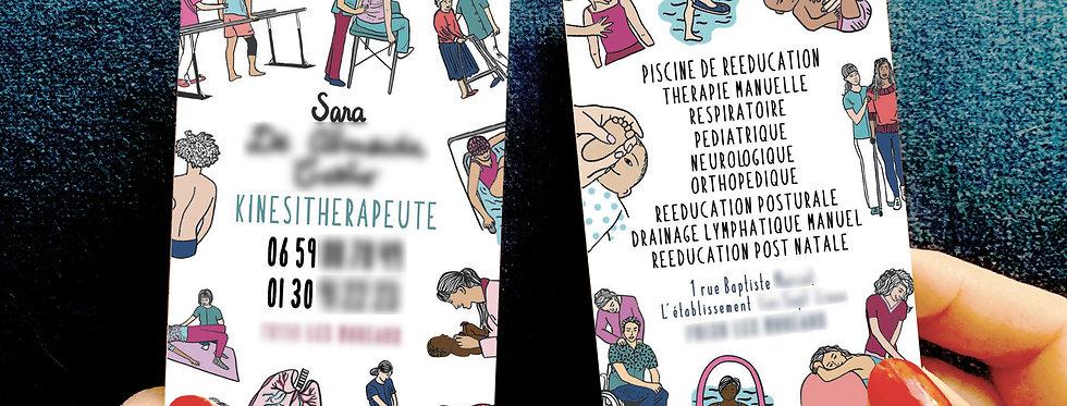 CARTE DE VISITE KINÉSITHÉRAPEUTE