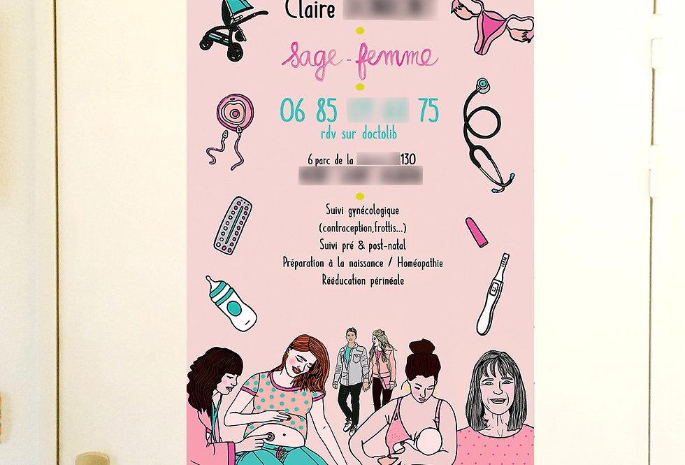 AFFICHE SAGE-FEMME
