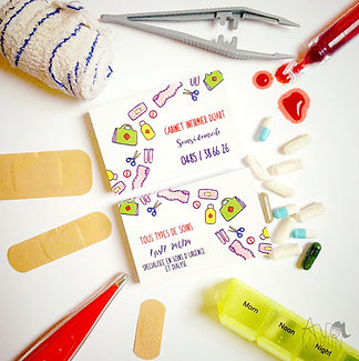 carte de visite infirmière originale