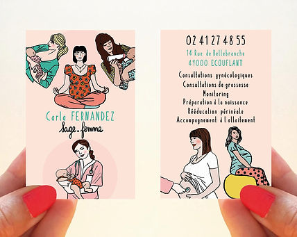 carte de visite sage-femme