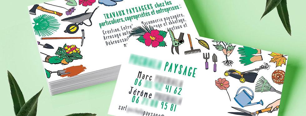 CARTE DE VISITE JARDINIER-PAYSAGISTE
