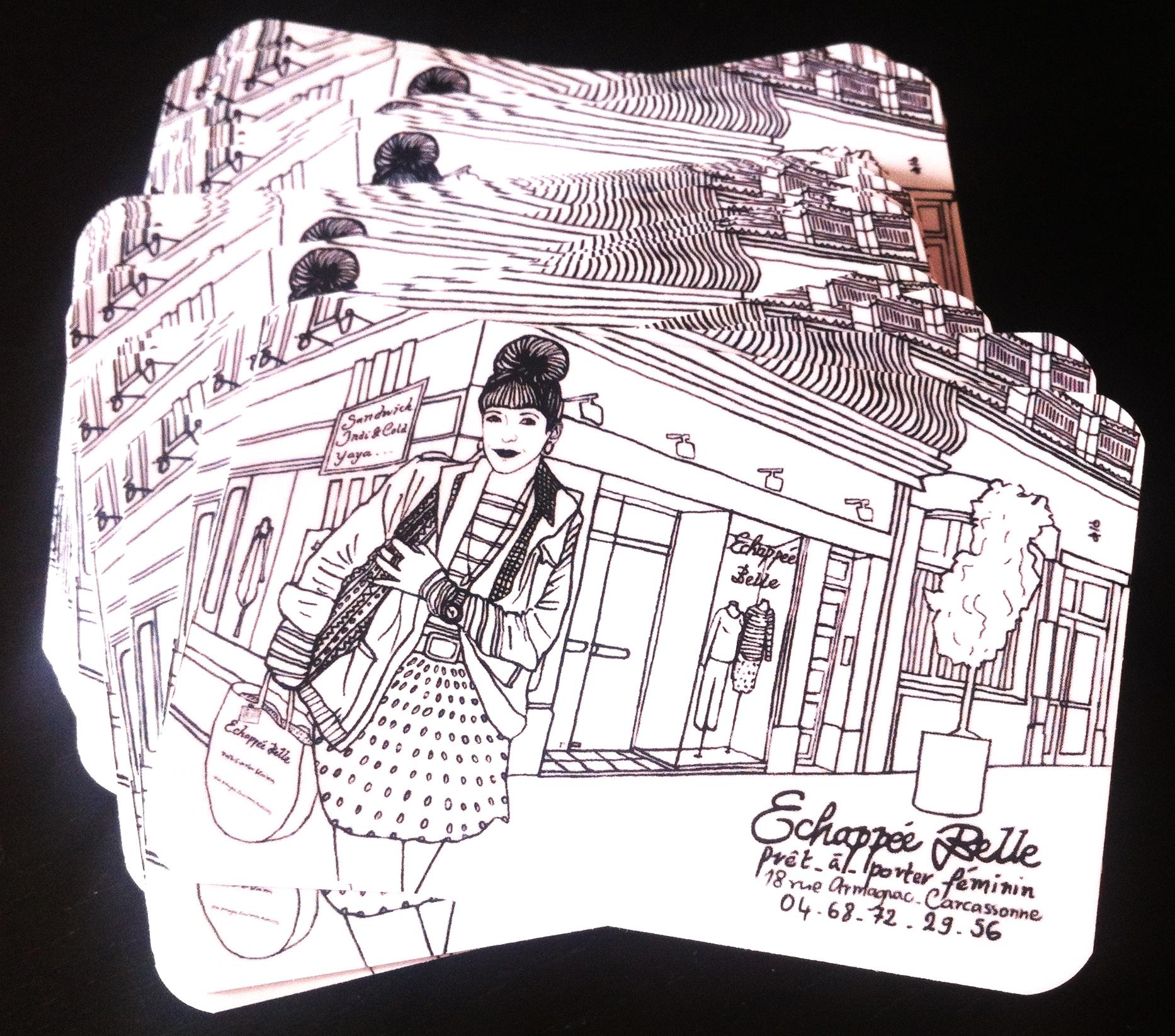 Cartes de visite boutique