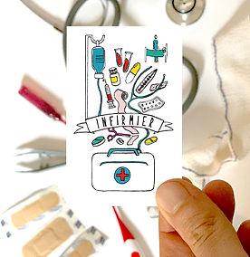 carte de visite infirmier