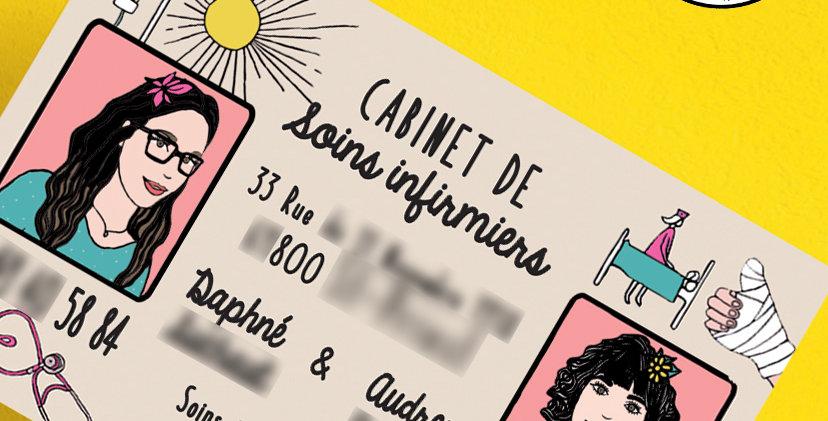CARTE À CRÉER - INFIRMIER(E) - RECTO - PORTRAITS