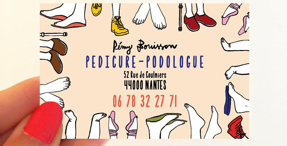 CARTE DE VISITE PEDICURE-PODOLOGUE