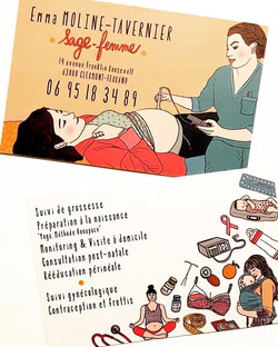 CARTE DE VISITE SAGE FEMME