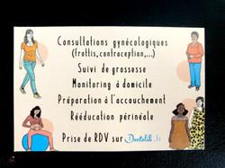 carte de visite originale sage-femme