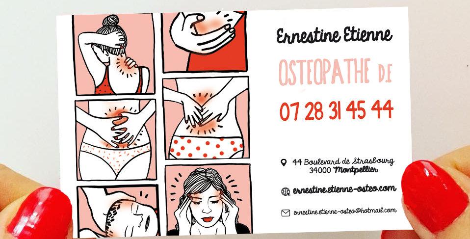 CARTE DE VISITE OSTÉOPATHE - BD