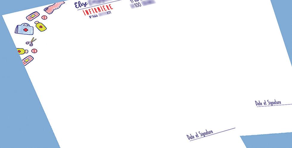 "ORDONNANCIER INFIRMIÈRE - ""ENVOLÉE"""